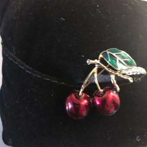 NWT Cherry Brooch